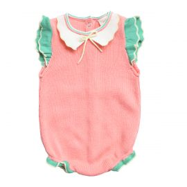 Barboteuse rose 6-12 m