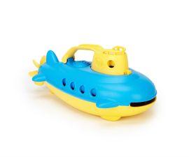 Bateau sous-marin bleu et jaune