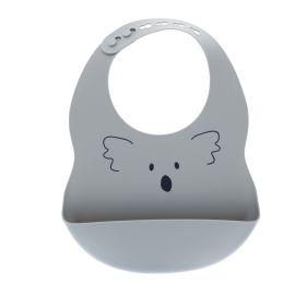 Bavoir silicone Koala gris