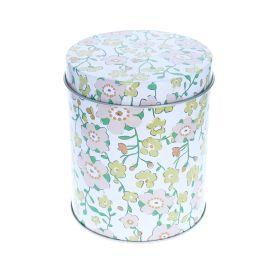 Boîte métallique blanche à fleurs