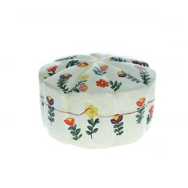Boîte ronde à fleurs