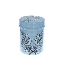 Boite cylindrique bleue