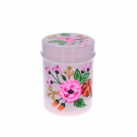 Boite cylindrique rose