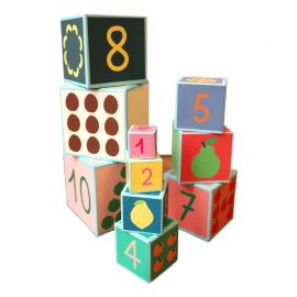 Lot de 10 cubes gigognes