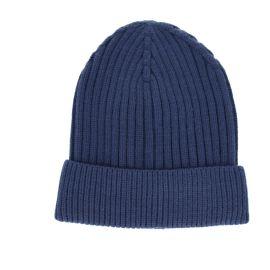 Bonnet côtelé bleu marine