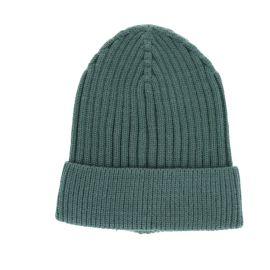Bonnet côtelé vert sauge