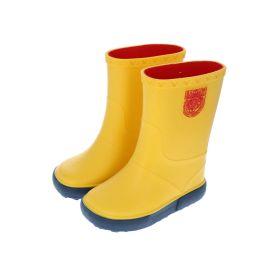 Bottes de pluie jaune et bleu