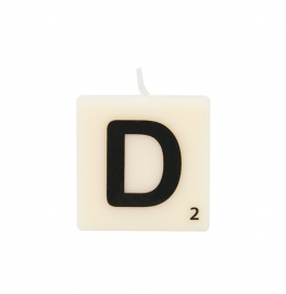 Bougie lettre D