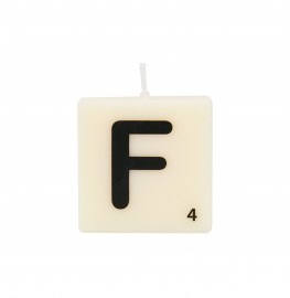 Bougie lettre F
