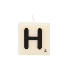 Bougie lettre H