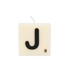 Bougie lettre J