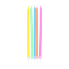 Bougies anniversaire x15 multicolores