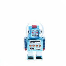 Boule à neige robot bleu