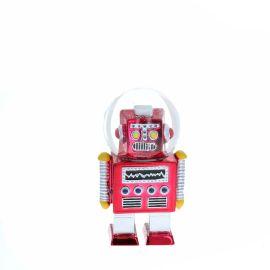 Boule à neige robot rouge