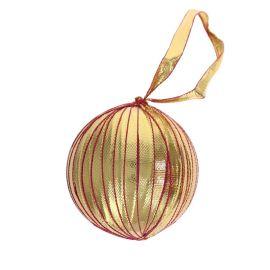 Boule de Noël galon indien doré et rose