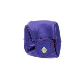 Bourse en cuir violet