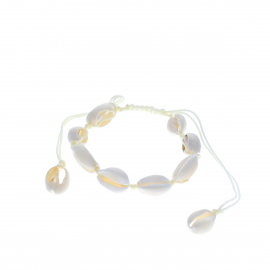 Bracelet beige coquillages