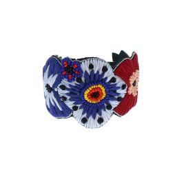 Bracelet fleurs bleues