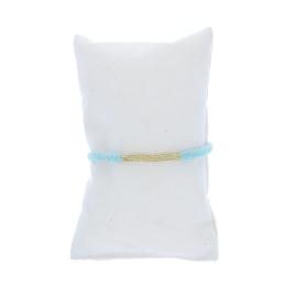 Bracelet gaze coton bleu