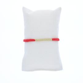 Bracelet gaze coton pêche