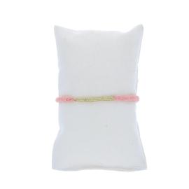 Bracelet gaze coton rose