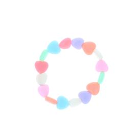 Bracelet coeurs plastiques colores