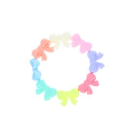 Bracelet noeuds en plastique colores