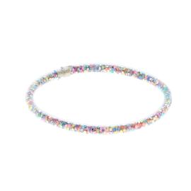 Bracelet plastiques paillettes multicolores