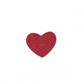 Broche coeur paillete