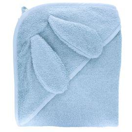 Cape de bain lapin bleu ciel 100 x 100