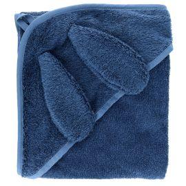Cape de bain lapin100x100 Bleu ardoise
