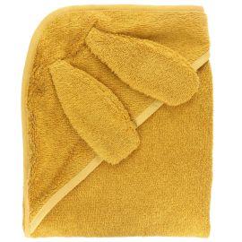 Cape de bain moutarde lapin 70x70