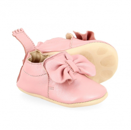 Chaussons nœuds rose 0-6 mois