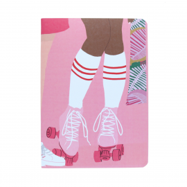 Carnet rollers roses