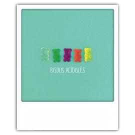 Carte postale bisous acidulées