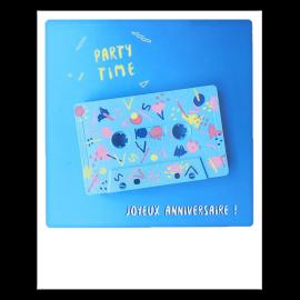 Carte postale polaroid party time