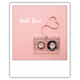 Carte polaroid cassette with love