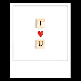 Carte polaroid I love you