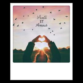 Carte polaroid Santé et Amour