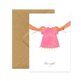 Carte postale it's a girl