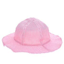 Chapeau de soleil vichy rose enfant