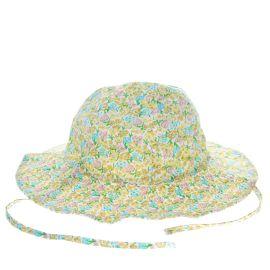 Chapeau de soleil fleurs bébé