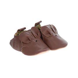Chaussons bébé cuir marron biche