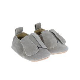 chaussons nubuck lapin bélier gris