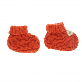 Chaussons orange brodés
