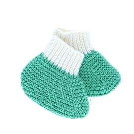 chaussons vert 0-6 mois
