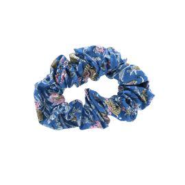 Noeud cheveux blockprint bleu