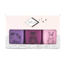Coffret Vernis à ongles lavable violets