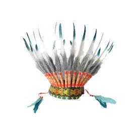 coiffe-chef-indien-bleu-canard