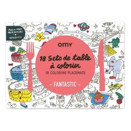 """Set de table """"fantastic"""" à colorier"""